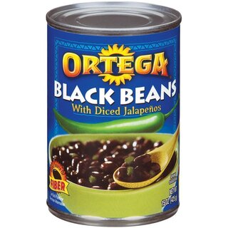 Ortega - Black Beans with Diced Jalapenos - 1 x 454 g
