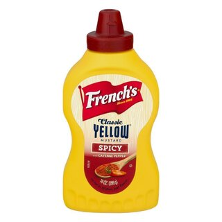 Frenchs Classic Yellow Mustard Spicy With Cayenne Pepper (396g)