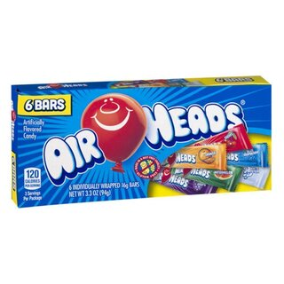 Air Heads Candy Theater Box 6 Bars - 12 x 94g