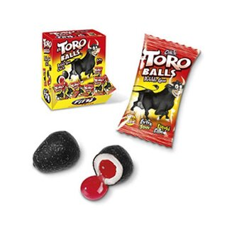 Fini - El Toro Balls Bubble Gum Extra Sour Liquid Filled (200 Stk)