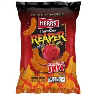 Herrs - Caroline Reaper Cheese Curls ( Scorchin Hot ) (199g)