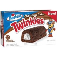 Hostess Chocolate Twinkies 10x Golden Sponge Cake with...