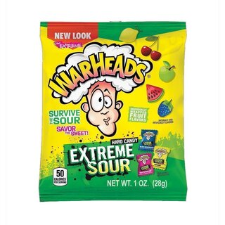 Warheads - Extreme Sour Hard Candy - 1 x 28g