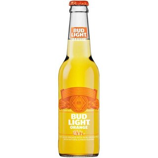 Bud Light  Orange - 24  x 330 ml - Glas Flasche