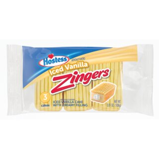 Hostess - Zingers Iced Vanilla - 1 x108g