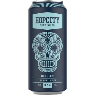 Hopcity - 8th Sin Black Lager - 5% Alc. - 12 x 473 ml
