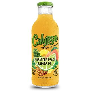 Calypso - Pineapple Peach Limeade - Glasflasche - 473 ml