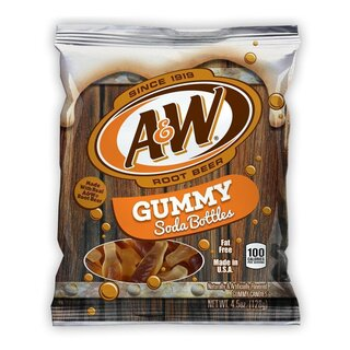 A&W Root Beer - Gummy Soda Bottle - 1 x 127g