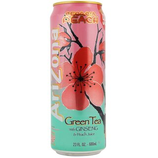 Arizona - Georgia Peach Green Tea With Ginseng & Peach Juice - 680 ml