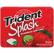 Trident Splash - Strawberry with Lime - 1 x 9 Stück