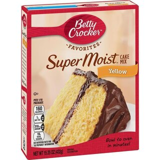 Betty Crocker - Super Moist - Butter Recipe Yellow Cake Mix - 432 g