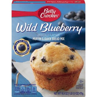 Betty Crocker - Premium Muffin & Quick Bread Mix - Wild Blueberry - 12 x 479 g