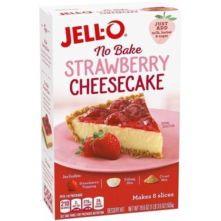 Jell-O - No Bake Strawberry Cheesecake Dessert kit - 555 g