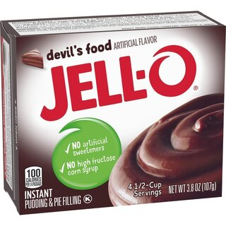 Jell-O - Devils Food Instant Pudding & Pie Filling - 107 g