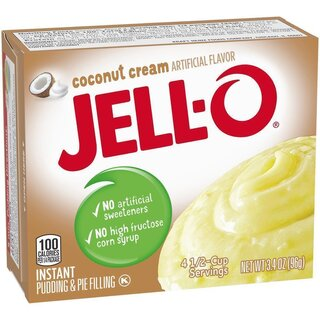 Jell-O - Coconut Cream Instant Pudding & Pie Filling - 96 g