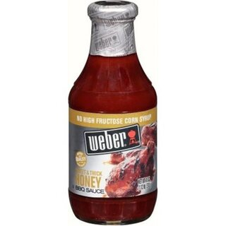 Weber - Sweet & Thick Honey BBQ Sauce - Glas - 1 x 510 g