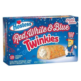 Hostess Twinkies - Red, White & Blue - Limited Edition - 385g