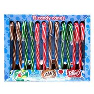 A&W Candy Canes, Root Beer, 7-UP, Dr. Pepper Geschmack -...