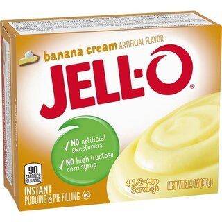 Jell-O - Banana Cream Instant Pudding & Pie Filling - 1 x 96 g