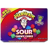 Warheads Sour Chewy Cubes - 1 x 113g